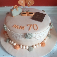70Th Cake For Traveller My friends mum travels all over the world, I made this for her 70th birthday