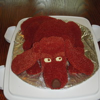 Red Blood Hound Dog Buttercream icing