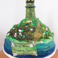 Light House Cake Light house cake, Rice Krispy light house edible landscape