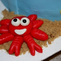 Sand Pail Beach Birthday Cake
