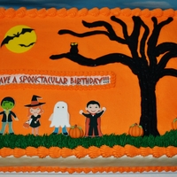 Halloween Birthday Cake BC and printed images