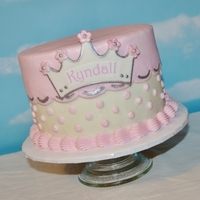 First Birthday Princess Cake All buttercream except for the little crown.