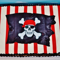 Pirate Birthday   edible image skull and crossbones