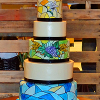 Stained Glass Wedding Cake   Stained Glass Wedding Cake