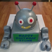 Robot Cake   Robot cake for boys birthday