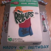 Fruit Roll Up Cake   Fruit Roll Up Box Cake