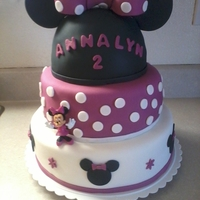 Minnie Mouse Cake My daughter 2nd bday cake