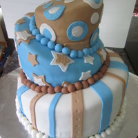 Topsy-Turvry Birthday Cake  I felt more like an engineer then a baker with this one. It was fun trying to construct my 1st topsy-turvy cake! Layers are chocolate,...
