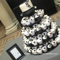 "Black & White Vegan Wedding Cupcakes Vegan wedding cupcakes in vanilla bean, red velvet, peanut butter and chocolate, each with vegan vanilla ""buttercream"". I used..."