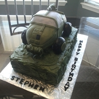 Halo Warthog Cake Warthog carved and covered in fondant