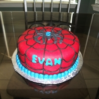 Spiderman Cake 8' cake in rolled fondant.
