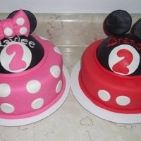 Twin Disney   Twin Mickey & Minnie cakes (into my 6th month of caking!)