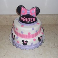 Minnie Mouse 3 tier Minnie Mouse
