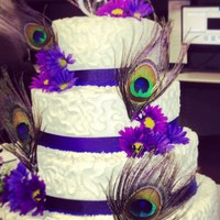 4 Tier Peacock Themed Wedding Cake Pre Delivery Picture   4 tier Peacock themed wedding cake (pre-delivery picture)