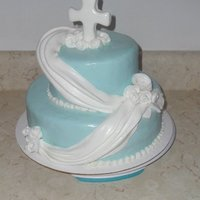 Mothers Day, Cross, Religious, Drape mother's day cake with fondant cross, draping, and roses