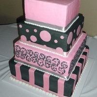 Pink/grey Wedding Cake