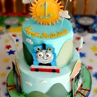 Thomas The Train Choc cake with vanilla icing. Fondant details. Buttercream finish. This is a cake I was asked to do by Icing Smiles, Inc. for a special...