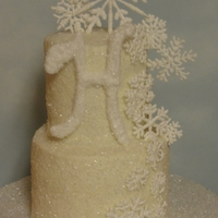 Winter Wedding Royal icing snowflakes