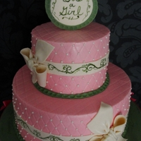 1323015524.jpg WASC cake w/almond filling on the bottom, Strawberry w/ cream cheese.I hand painted the scrolls, the first time ever doing that.