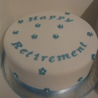 Very Simple Retirement Cake