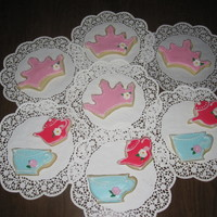 Princess Tea Party Suagr cookies with royal icing. These cookies were really fun to make!