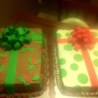 Christmas Present Sheet Cakes Christmas presents