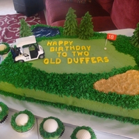 Golf Course & Golf Ball Cupcakes Everything is bc except the letters and golf balls are white choc.