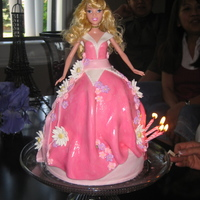 Barbie Princess Cake The best thing about this cake is my daughter thought I would melt her new barbie in the oven when I was baking it :) This was for her 5th...