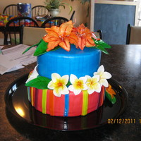Tropical Birthday Cake I made this for a friends Aunts 30th Birthday. It was my first cake I charged money for since it wasn't my close friends or family. I...