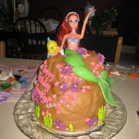 Little Mermaid Cake Another Barbie stuffed into a cake :) Happy 4th birthday to my niece!