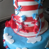 Thing One And Thing Two This was for a twin boys second birthday party. I like to include their own cake to dig into for pictures. Made with MM Fondant