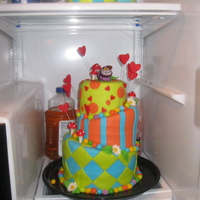 Allison In Wonderland Cake Twin Boys turing 1, The mom wanted the flavors to mimic her wedding cake. With a mad hatters theme to show how crazy of a year they had...