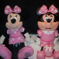 Minnie Mouse head and body are cake. no support inside except a dowel rod to hold head on. legs and arms are fondant and feet are cake. Modeled after...