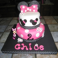 Minnie Mouse This cake was for a sweet two year old that loved Minnie Mouse.