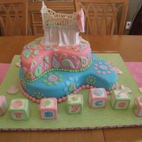 Paisley Baby Shower Cake