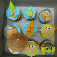Phineas And Ferb Cupcakes   These cupcakes were for 2 little brothers that love Phineas and Ferb... most of all Perry the Playtpus.