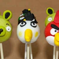 Angry Birds Cake Pops Cake pops done to match Angry Birds game. Red velvet cake with cream cheese swiss meringue buttercream, coated in colored candy melts and...