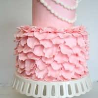 Petals And Pearls A cake designed for a girly four-year old who loves to dress up!