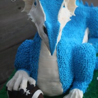 Dragon Cake For Icing Smiles, Inc., a dream cake featuring dragon mascot for DeRidder (LA) middle school's football team! Chocolate cake with...
