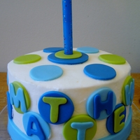 Polka Dot Boys 1St Birthday Smash Cake Vanilla smash cake covered in vanilla butter cream with fondant accents.