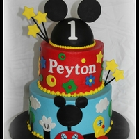 Mickey Mouse Clubhouse Mickey Mouse Clubhouse cake, inspired by the many versions of this cake found here on CC.