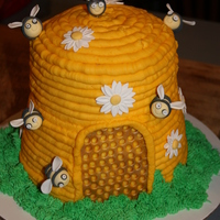 Queen Bee   Birthday cake for our friend whom we refer to as Queen. Chocolate cake and royal icing.