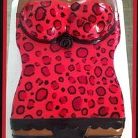 Leopard Print Corset All Covered In Fondant The Leopard Print Was Hand Painted Cake Flavor Is 12 White And Strawberry W Vanilla Butte Leopard Print Corset- All covered in fondant. The leopard print was hand painted. Cake flavor is 1/2 white and strawberry w/ vanilla butter...