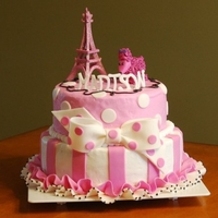 Eiffel Tower And Poodle Cake