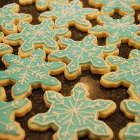 Snowflake Cookies   Trying my hand at cookies now :) LOVE snowflakes!!