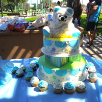 Baby Boy Shower Cake I got this from a Wilton Book!