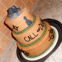 Call Of Duty Cake iced in BC. accents are fondant.