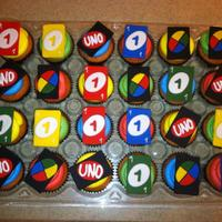 Uno Cupcakes Made These For A Little Boy Turning 1 UNO Cupcakes! Made these for a little boy turning 1.