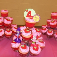 Strawberry Shortcake Cupcakes Made these for my God daughter turning 4.