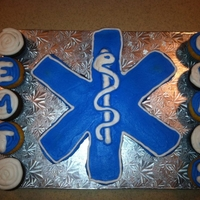 Emt Pull Apart Cupckes The star of life in the middle is make of pull apart cupcakes.